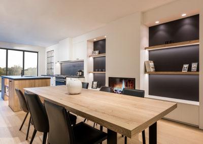 Keuken landelijk, wit - hout - zwart