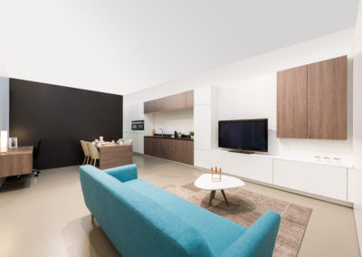 Interieurkasten hout / wit
