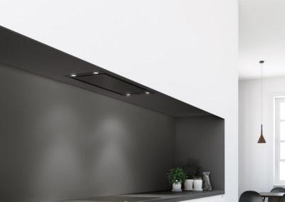 Dampkap Novy Mini Pureline zwart - Premium Line