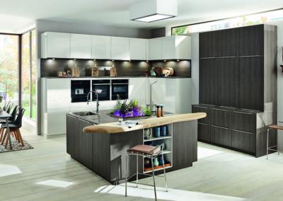 Keuken modern, model Top, hout/wit