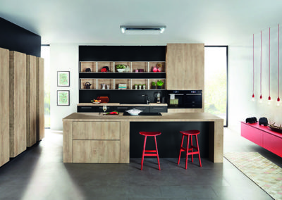 Keuken modern, model Top, hout/zwart