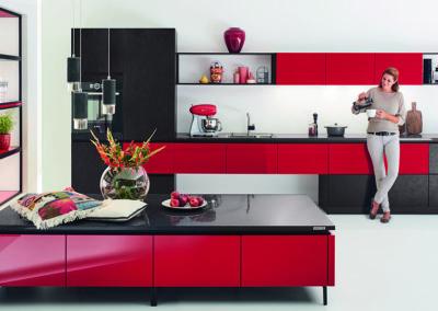 Keuken modern, greeploos, model Edition, directlack