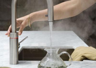 Keukenkraan Quooker Flex met uittrekbare flexibel in inox
