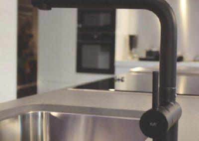 Keukenkraan KVR Techno, mat zwart