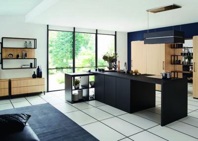 Keuken modern, model Top, hout en model Fenix, supermat