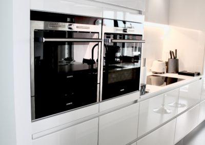 keuken modern greeploos, wit hoogglanslak