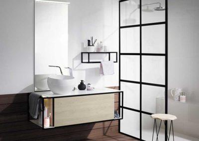 Badkamer meubelen burgbad vertommen - Salle de bain style atelier ...