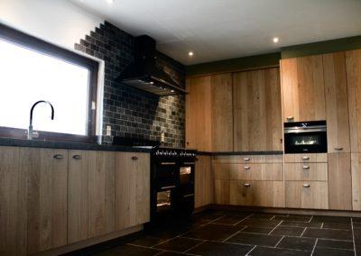 Realisatie keuken, massief hout