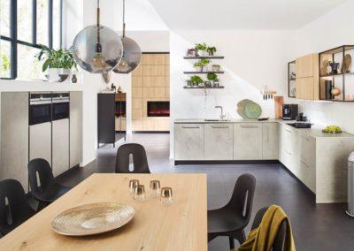keuken in lichte betonlook