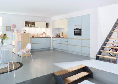 keuken in pastel tinten