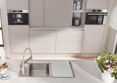 keuken smartglas met marmer look